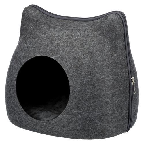 Trixie Kattehule – Ansigts Formet – 38x35x37cm – Mørkegrå – – – –