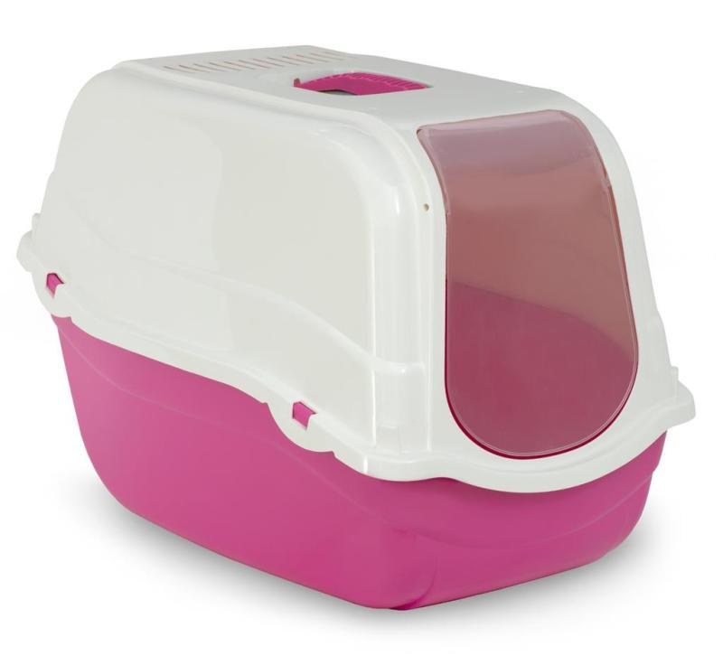 MP Kattetoilet Romeo i Plastik – 57x39x41cm – Pink
