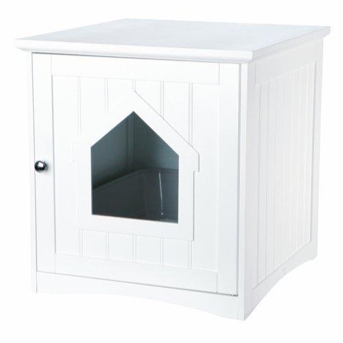 Trixie Hus til Kattetoilet – 49x51x51cm – Hvid
