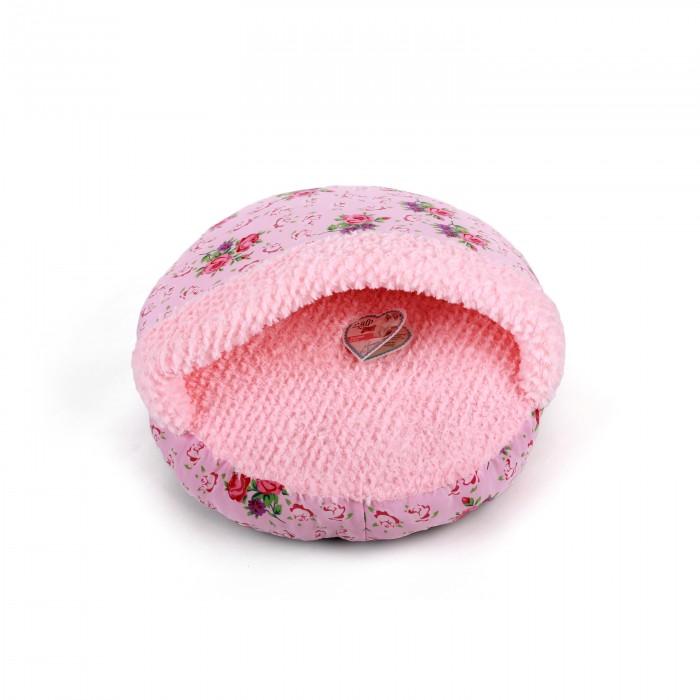 Shabby Chic Kattehule i Pink – Med Blomster